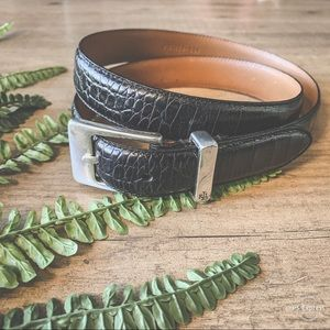 LAUREN Ralph Lauren croc print leather belt size L